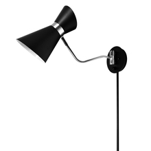 Dainolite 1681W-BK-PC - 1LT Wall Lamp, Black & Polished Chrome Finish