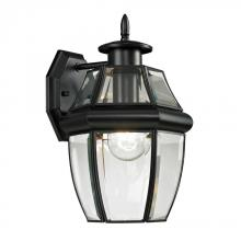 Elk Cornerstone 8601EW/60 - Ashford 1 Light Exterior Coach Lantern In Black