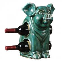 Uttermost 18757 - Uttermost Oink Ceramic Wine Holder